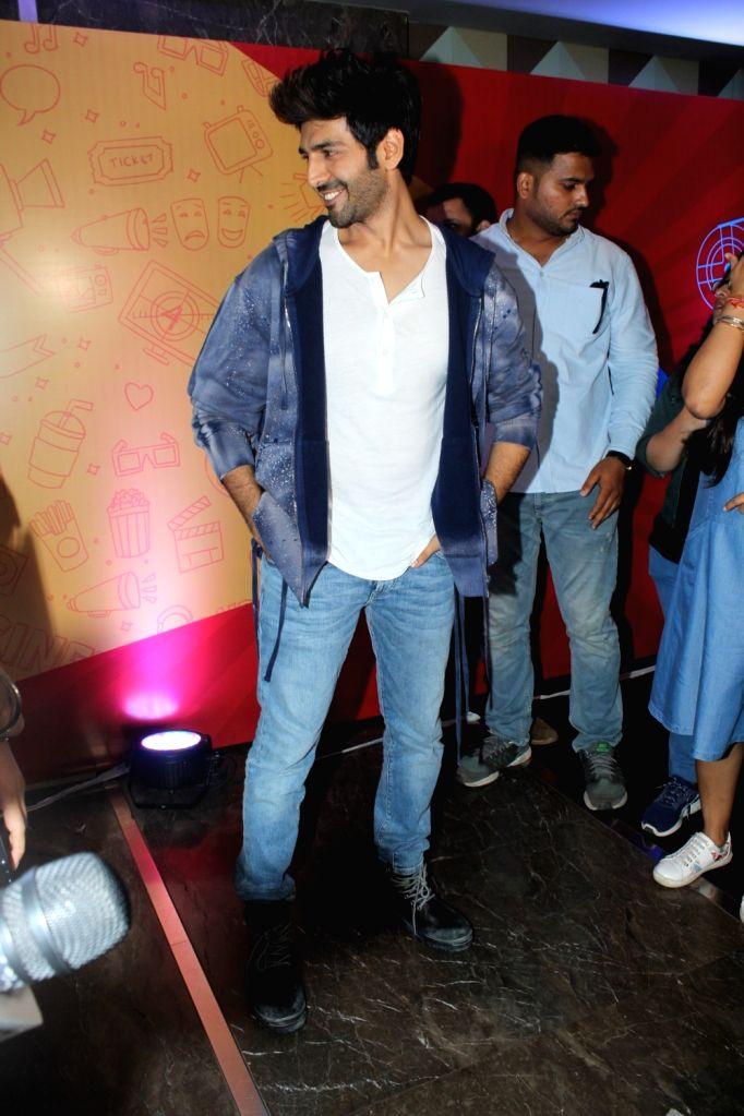 Actor Kartik Aryan on the second day of the 10th Jagran Film Festival in Mumbai on Sep 27, 2019. - Kartik Aryan