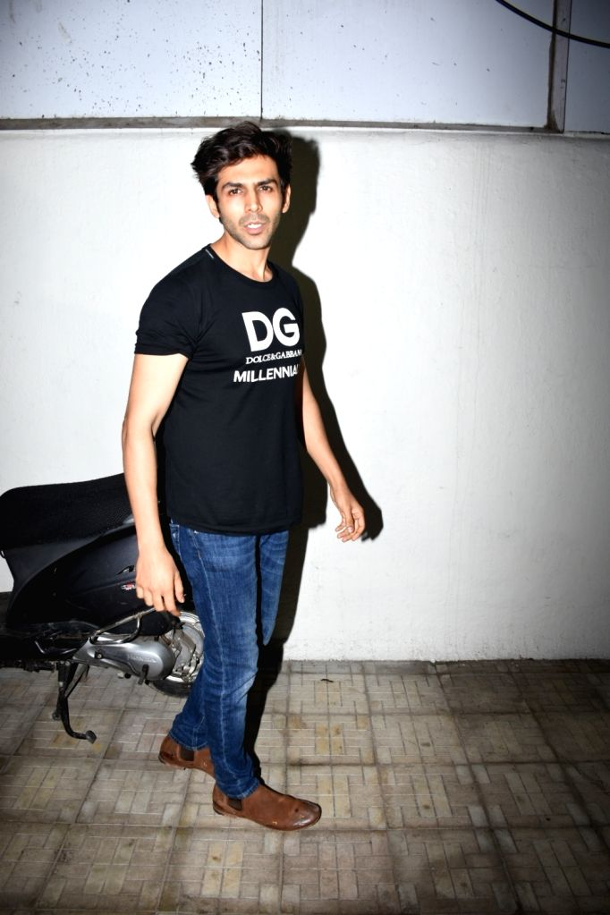 Actor Kartik Aryan seen outside Dharma Productions' office at Khar, in Mumbai, on June 13, 2019. - Kartik Aryan