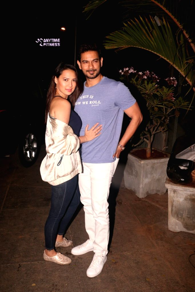 Actor Keith Sequeira with his wife Rochelle Rao at actress Nora Fatehi's birthday bash in Mumbai's Bandra, on Feb 5, 2019. - Keith Sequeira and Rochelle Rao