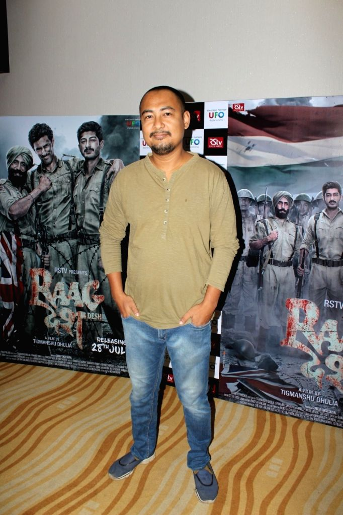 """Actor Kenny Basumatary during a programme organised to launch trailer of forthcoming film """"Raag Desh"""" in Mumbai, on June 30, 2017. - Kenny Basumatary"""