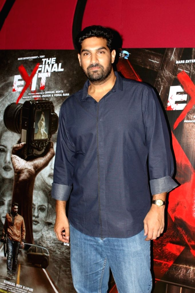 """Actor Kunaal Roy Kapur duirng the press conference of film """"The Final Exit"""" in Mumbai on Sept 12, 2017. - Kunaal Roy Kapur"""
