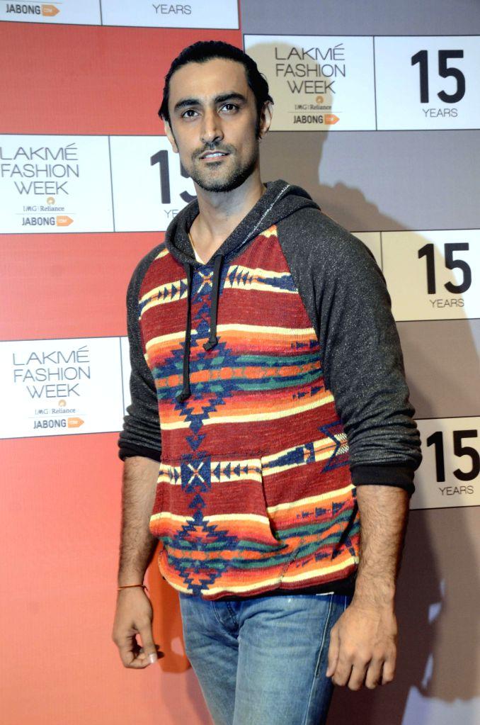 Actor Kunal Kapoor during a press conference regarding 15 years of Lakme Fashion Week, in Mumbai on Aug 3, 2015. - Kunal Kapoor