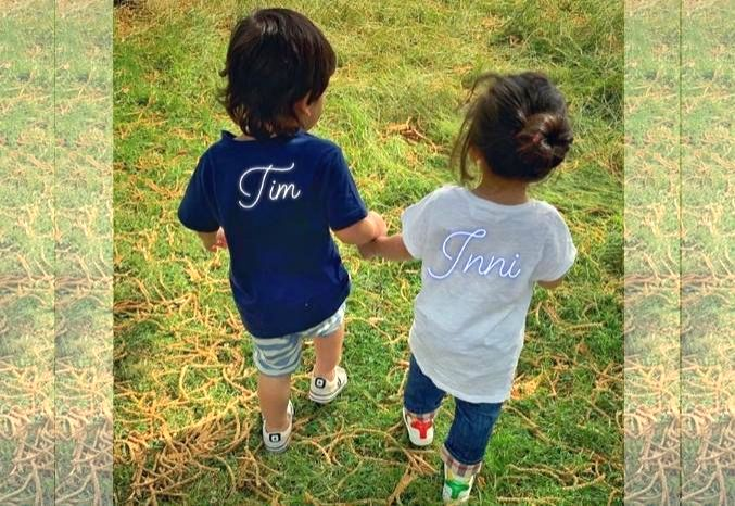 """Actor Kunal Kemmu shared a photograph of the two toddlers on Instagram. He captioned it: """"Tim & Inni.""""?? - Kunal Kemmu"""