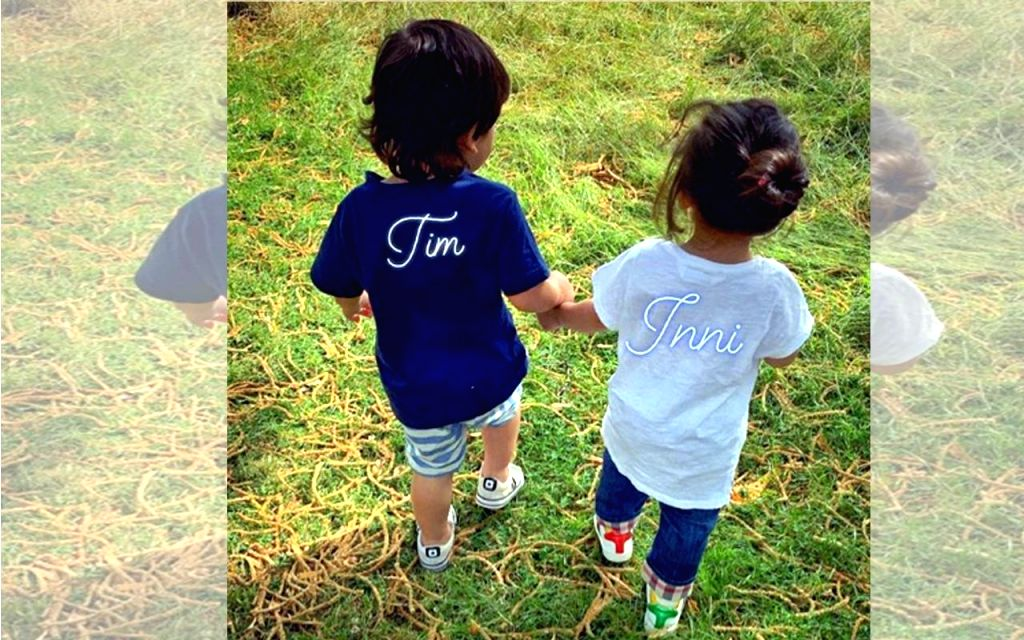 """Actor Kunal Kemmu shared a photograph of the two toddlers on Instagram. He captioned it: """"Tim & Inni."""". (Photo: Instagram/nickjonas) - Kunal Kemmu"""