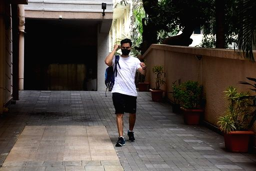 Actor Kunal Khemu seen at Bandra in Mumbai on Oct 19, 2020. - Kunal Khemu