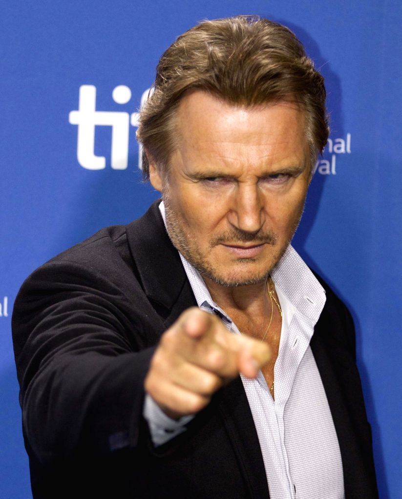 """:Actor Liam Neeson attends the press conference of the film """"The Third Person"""" during the 38th Toronto International Film Festival in Toronto, Canada, Sept. 10, ..."""