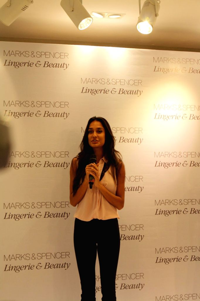 06650ecde Actor Lisa Haydon during the launch of Marks   Spencer s first standalone  lingerie   beauty store