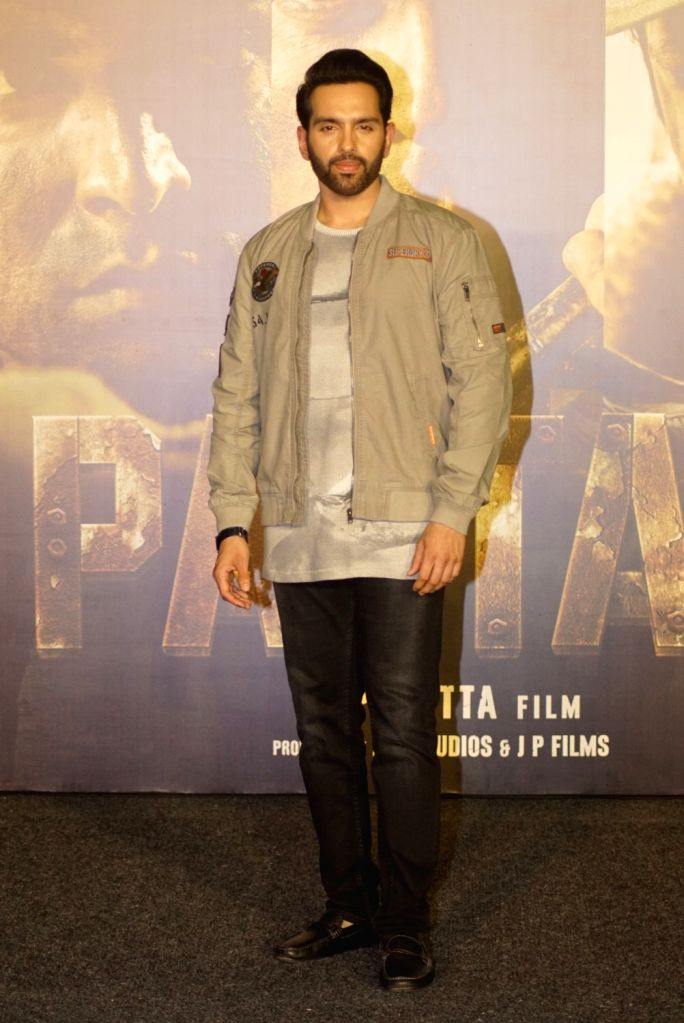 """Actor Luv Sinha during the trailer launch of his upcoming film """"Paltan"""", in Mumbai on Aug 2, 2018. - Luv Sinha"""