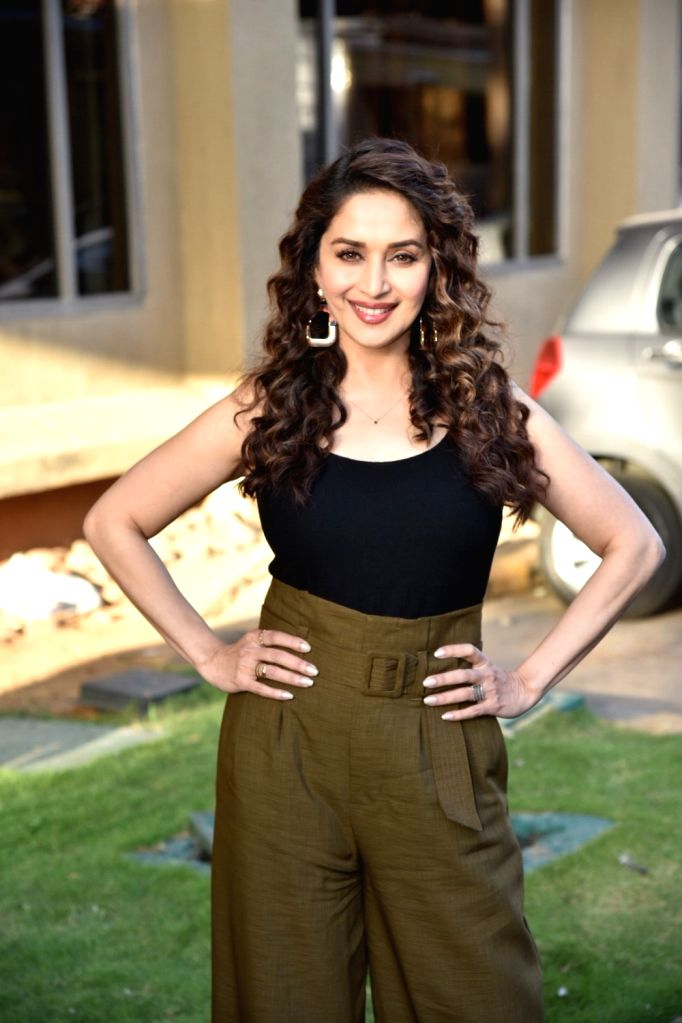 "Actor Madhuri Dixit ahead of an interview regarding ""Total Dhamaal"" in Mumbai on Feb 8, 2019. - Madhuri Dixit"