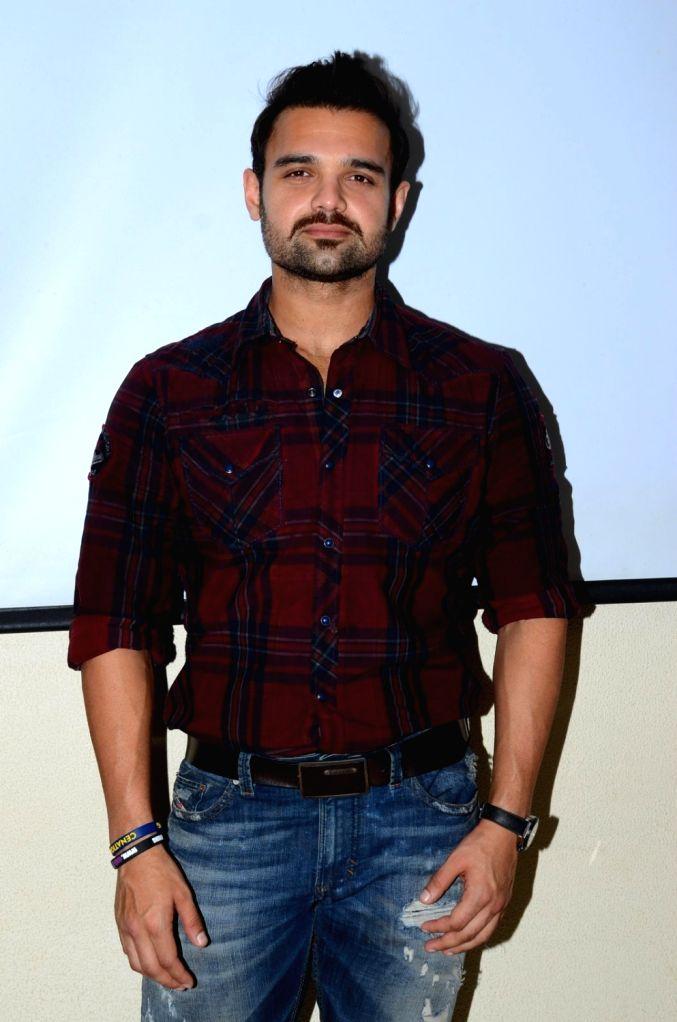 Actor Mahaakshay Chakraborty during the promotion of film Zubaan in Mumbai on Jan 23, 2016. - Mahaakshay Chakraborty