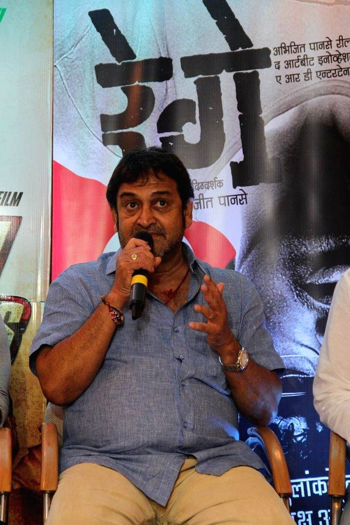 Actor Mahesh Manjrekar during the promotion of Marathi film Rege in Mumbai, on August 9, 2014. - Mahesh Manjrekar