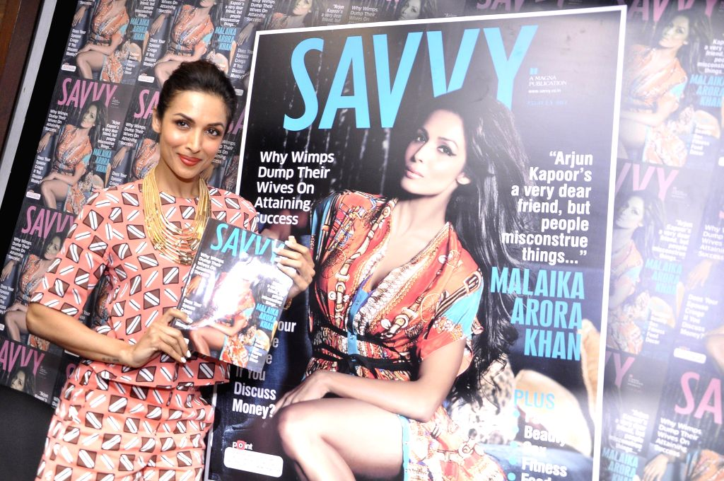 Actor Malaika Arora Khan during the unveiling of latest cover of Savvy magazine in Mumbai on July 7, 2014.