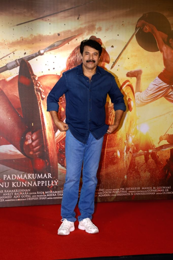 """Actor Mammootty at the trailer launch of film """"Mamangam"""" in Mumbai  on Dec 4, 2019. - Mammootty"""