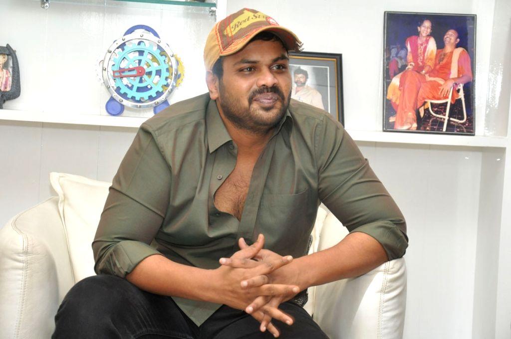 Actor Manchu Manoj during tha interview - Manchu Manoj