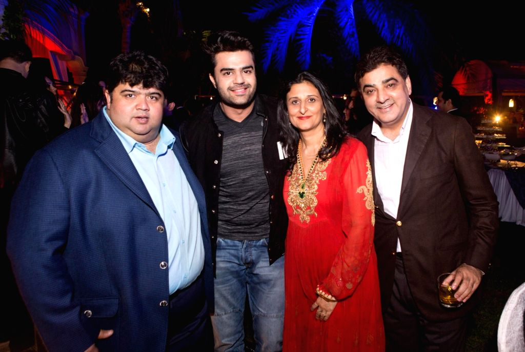 Actor Manish Paul at the Anil Kapoor`s 59th birthday celebration party hosted by Chairman Channel 2 Group Ajay Sethi in Dubai, on Jan 5 ,2016. - Manish Paul