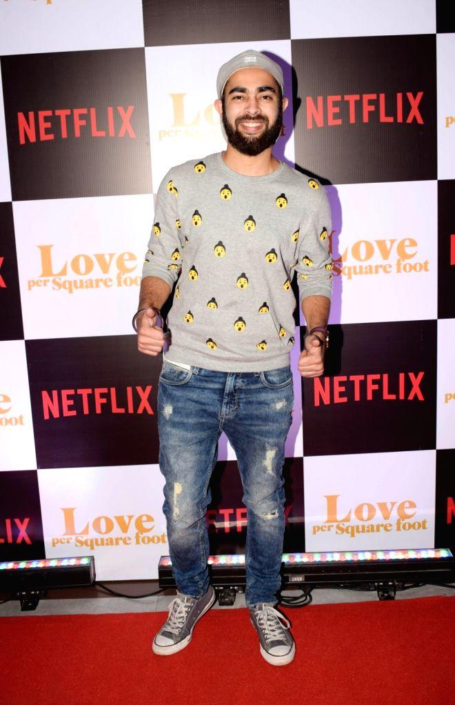 "Actor Manjot Singh at the screening of film ""Love Per Square Foot"" in Mumbai on Feb 11, 2018. - Manjot Singh"