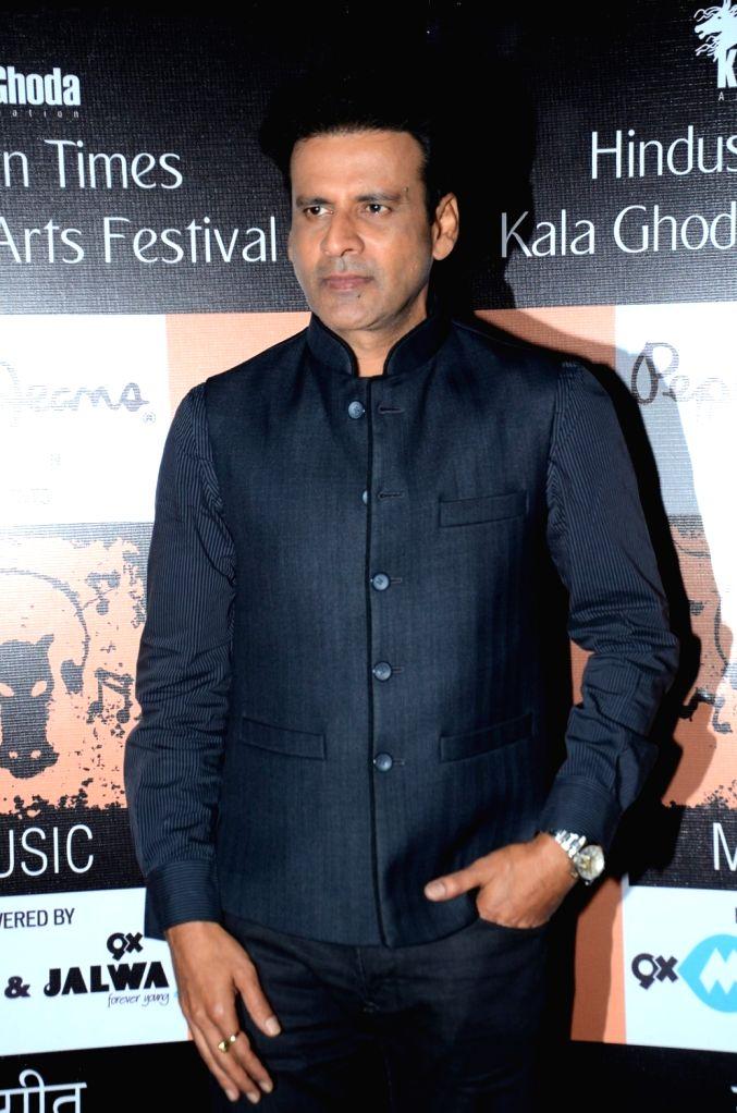 Actor Manoj Bajpai during the closing ceremony of Kala Ghoda Arts Festival in Mumbai, on Feb 14, 2016. - Manoj Bajpai
