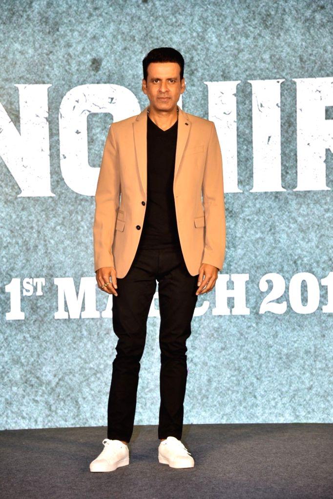 Actor Manoj Bajpayee during a press conference to promote his upcoming film 'Sonchiriya' in Mumbai, on Feb 9, 2019. - Manoj Bajpayee