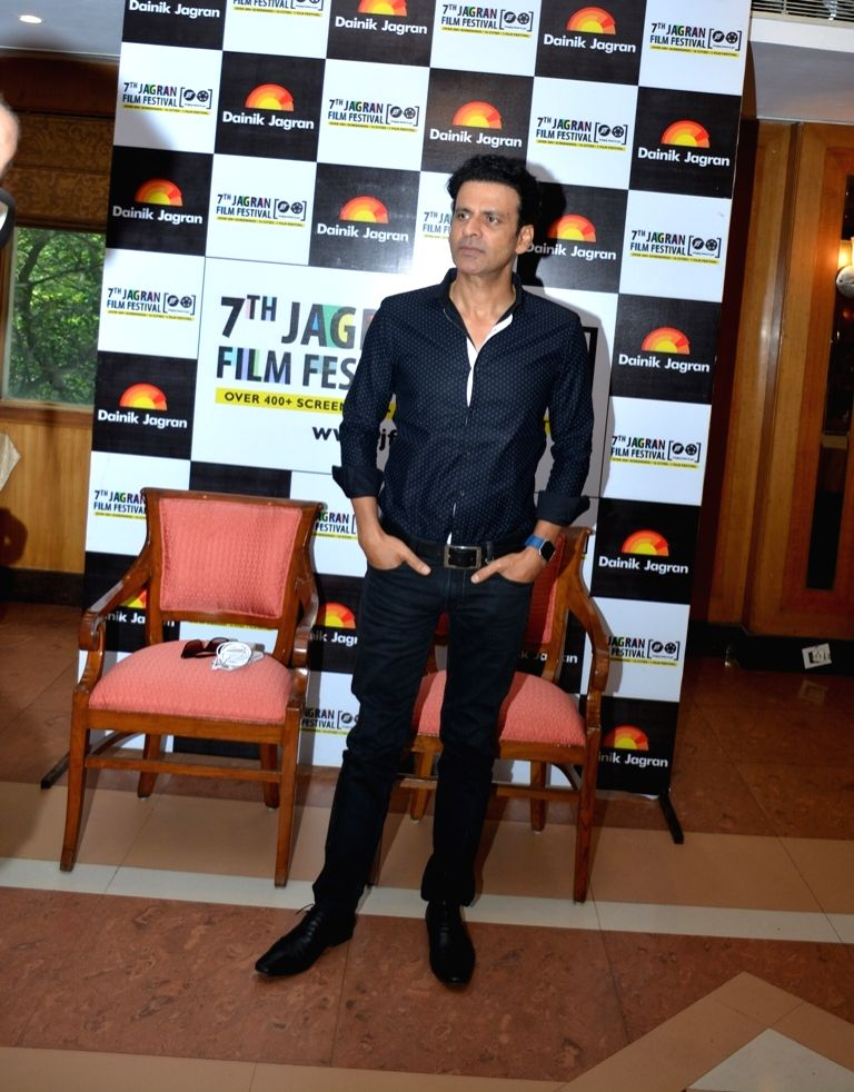 Actor Manoj Bajpayee during the 7th Jagran Film Festival in New Delhi on July 3, 2016. - Manoj Bajpayee