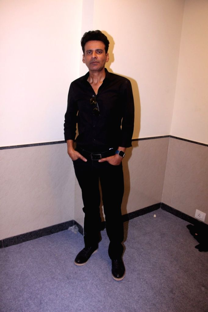 Actor Manoj Bajpayee during the promotion of their short film Ouch at the Jio MAMI 18th Mumbai Film Festival, in Mumbai on Oct 22, 2016. - Manoj Bajpayee