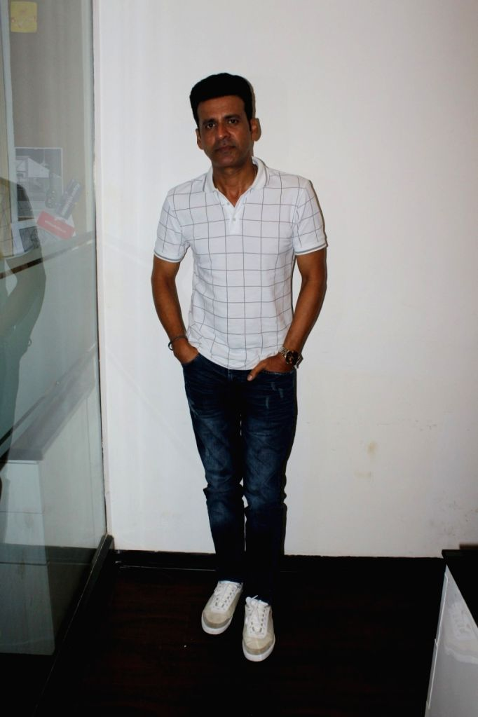 "Actor Manoj Bajpayee during the promotion of film ""Rukh"" in Mumbai on Oct 10, 2017. - Manoj Bajpayee"