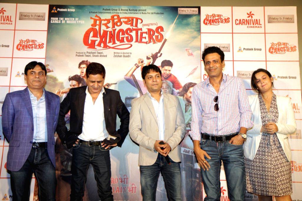 Actor Manoj Bajpayee during the trailer launch of film `Meeruthiya Gangsters` in Mumbai on Aug 12, 2015. - Manoj Bajpayee
