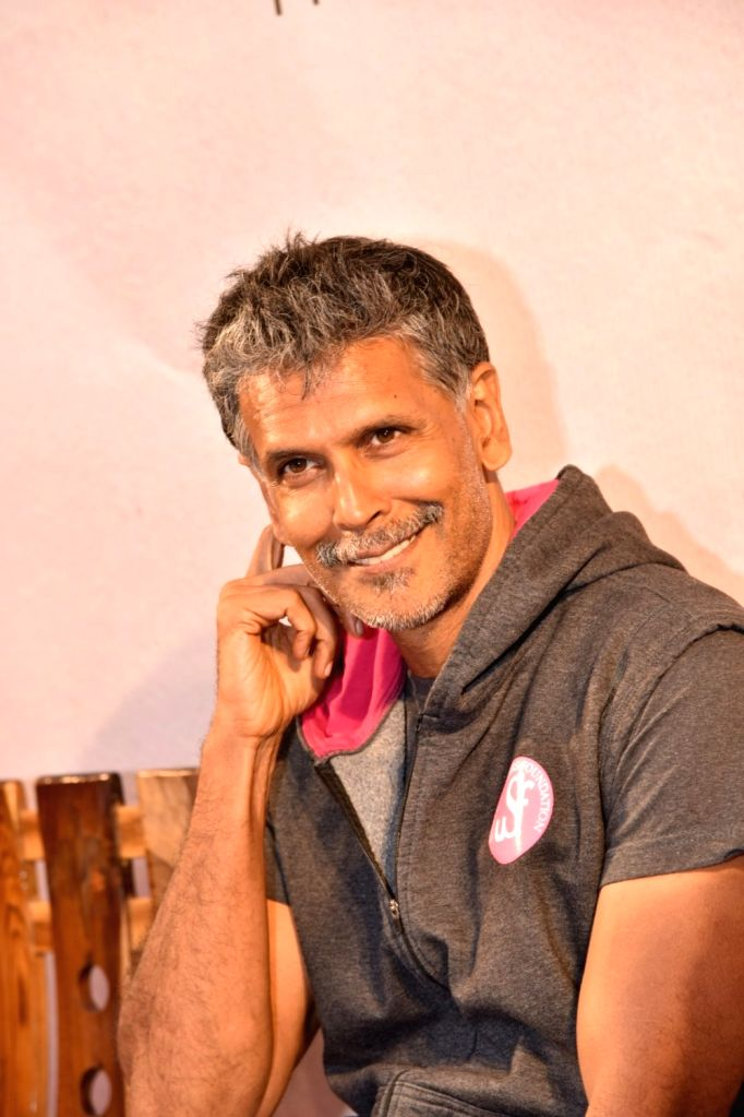 Actor Milind Soman during the launch of Probir Sengupta`s book `Unclothed` in Mumbai, on May 31, 2017. - Milind Soman