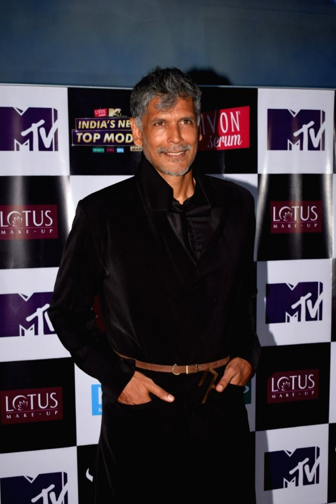 "Actor Milind Soman on the set of ""India's Next Top Model"" Season 3  in Mumbai on Oct 10, 2017. - Milind Soman"