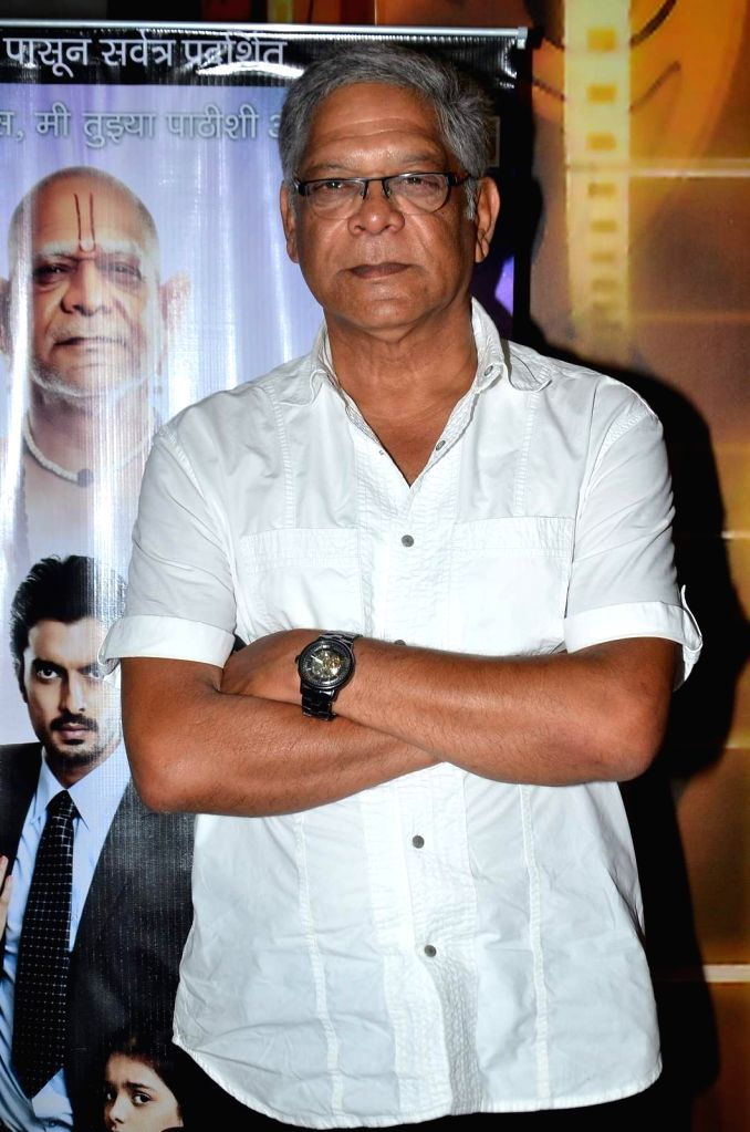 Actor Mohan Joshi during the trailer launch of Marathi film Deool Banda in Mumbai, on July 9, 2015. - Mohan Joshi