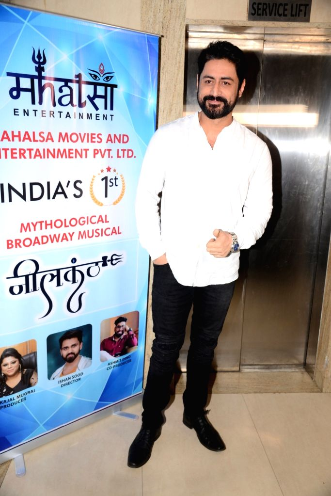 """Actor Mohit Raina at the poster launch of """"Neelkanth - Mythological Broadway Musical,"""" in Mumbai, on  March 2, 2019. - Mohit Raina"""