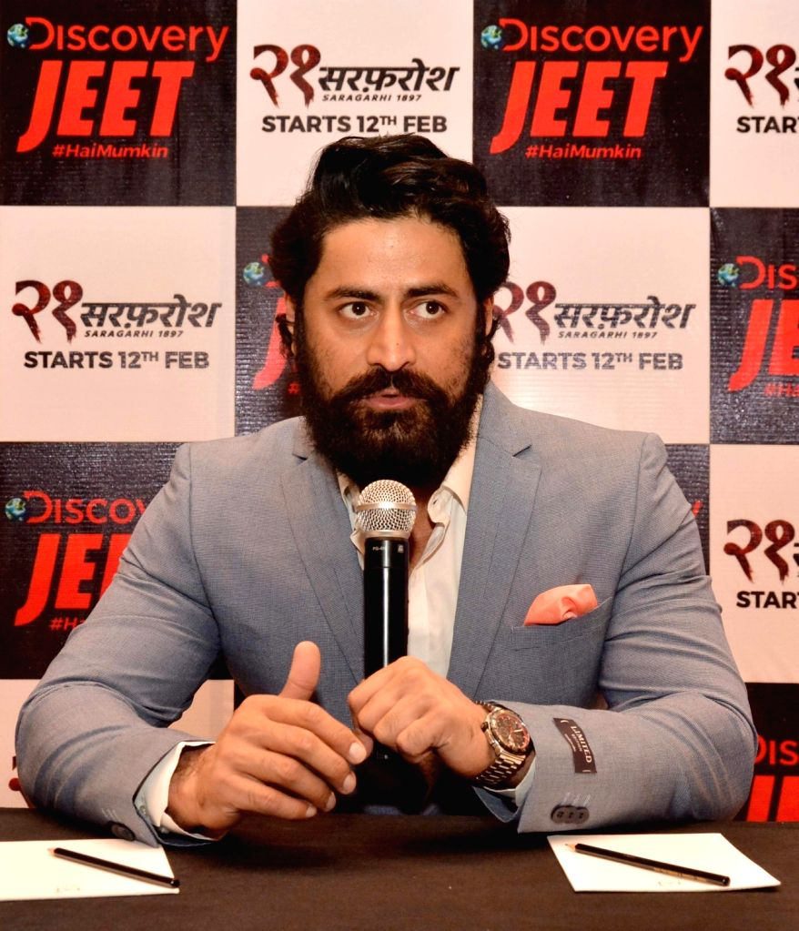 Actor Mohit Raina during the promotion of his upcoming television show '21 Sarfarosh - Saragarhi 1897' in Amritsar on Jan 22, 2018. - Mohit Raina