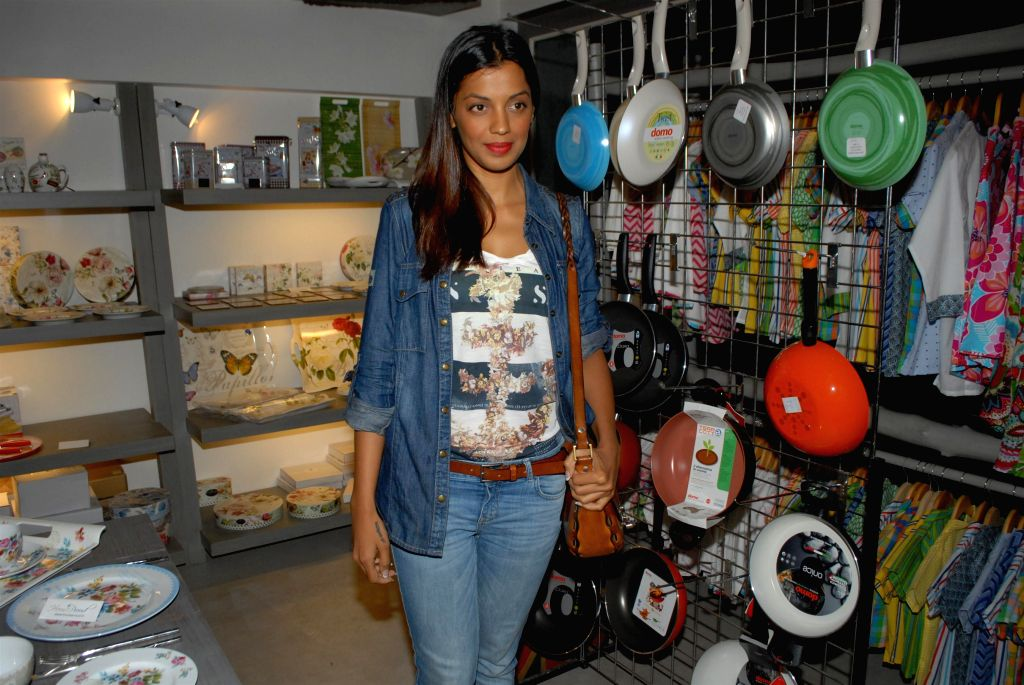 Actor Mugdha Godse during the preview of the latest Flower Power Collection at The White Window store in Mumbai, on July 31, 2014. - Mugdha Godse