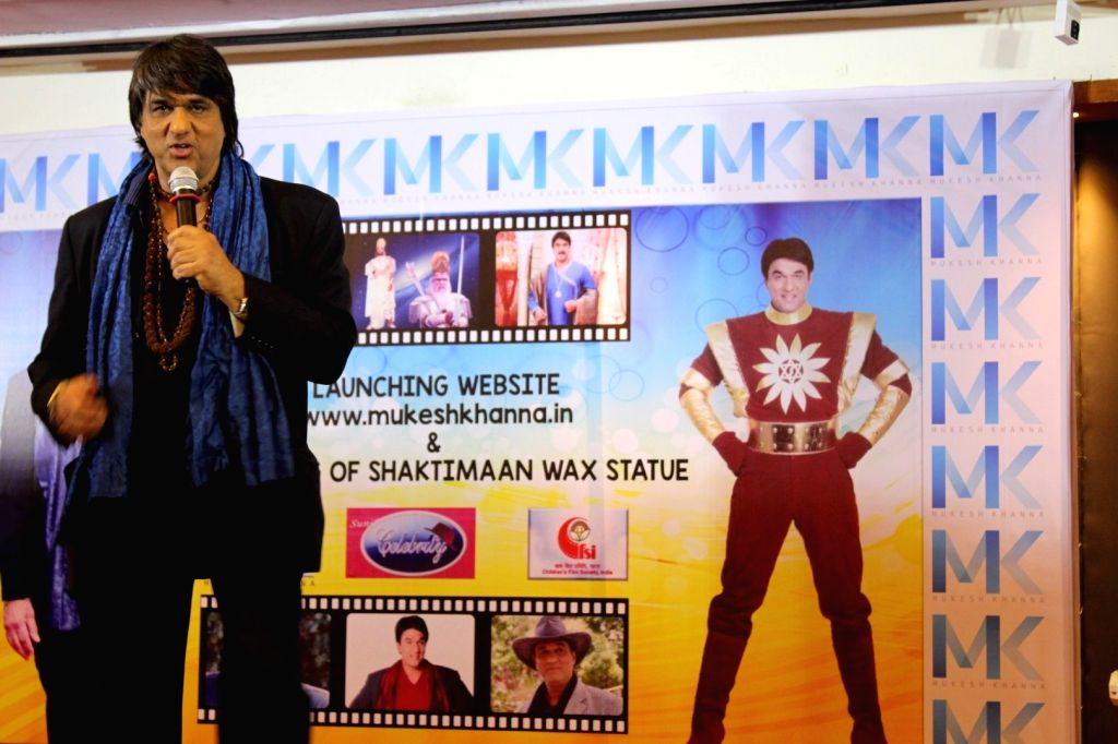 Actor Mukesh Khanna during the launch of his website www.mukeshkhanna.in,  in Mumbai on March 3, 2017. - Mukesh Khanna