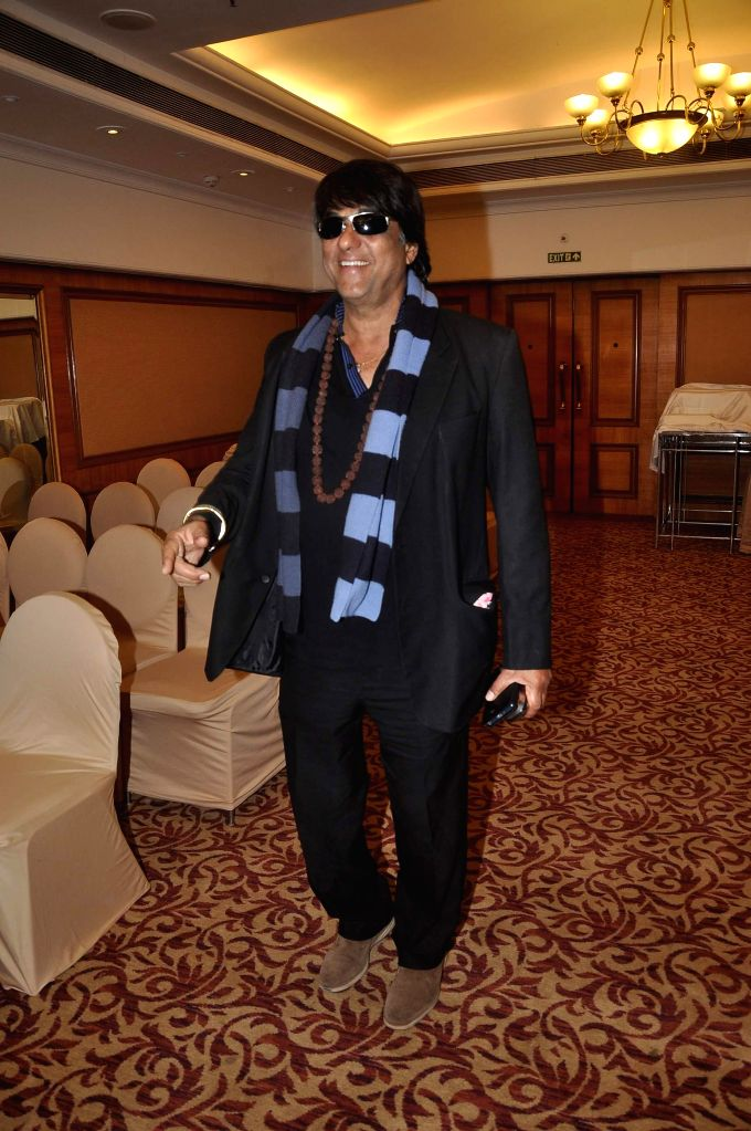 Actor Mukesh Khanna during the launch of Indian National Anthem video, in Mumbai on Aug 15, 2014. - Mukesh Khanna