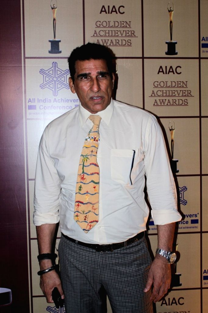 Actor Mukesh Rishi during the AIAC golden achiver awards in Mumbai, on May 30, 2017. - Mukesh Rishi