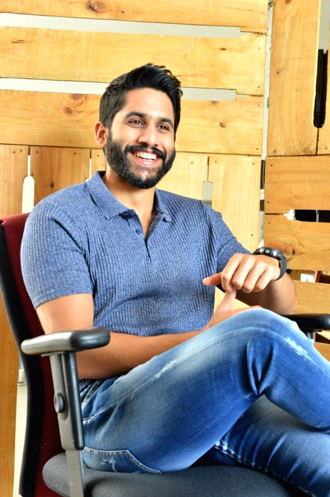 Actor Naga Chaitanya during a interview in Hyderabad. - Naga Chaitanya