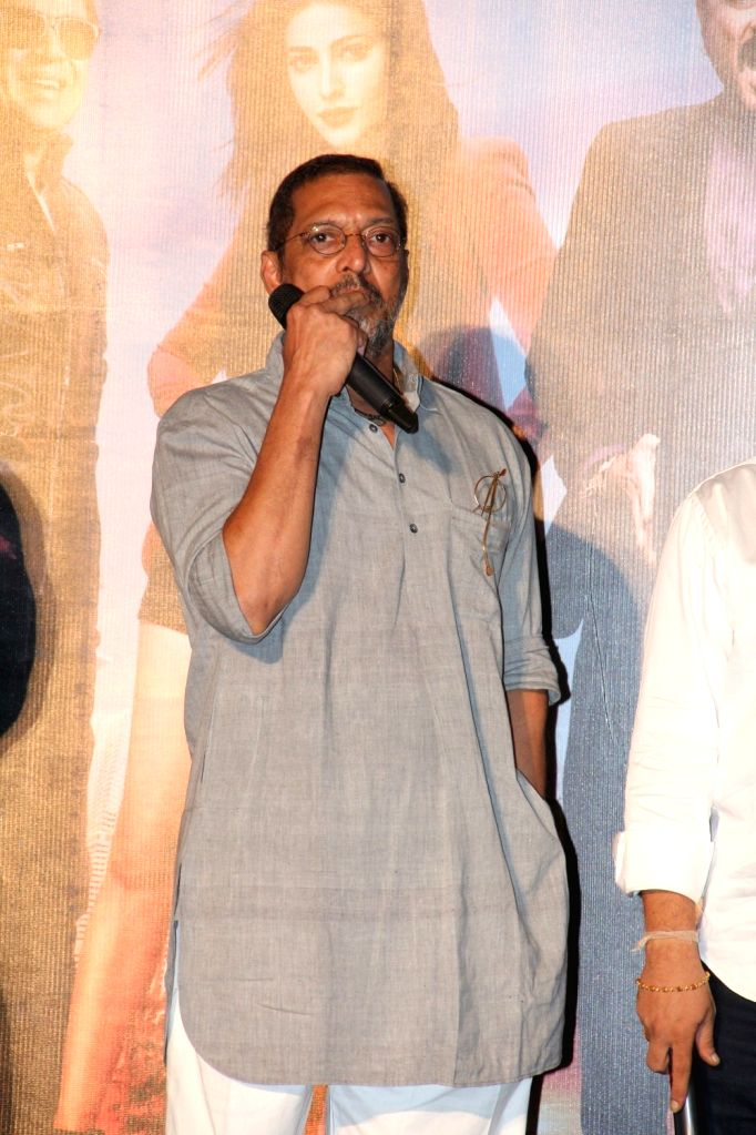 Actor Nana Patekar during the launch of title track song of film Welcome Back in Mumbai on Aug 8, 2015. - Nana Patekar
