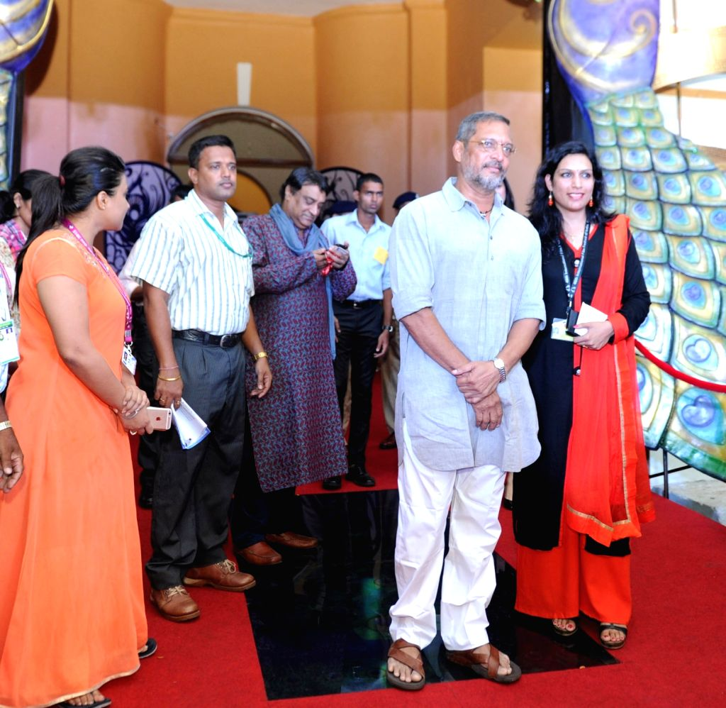 Actor Nana Patekar on Red Carpet during a press conference at the 46th International Film Festival of India (IFFI-2015), in Panaji, Goa on Nov. 24, 2015.
