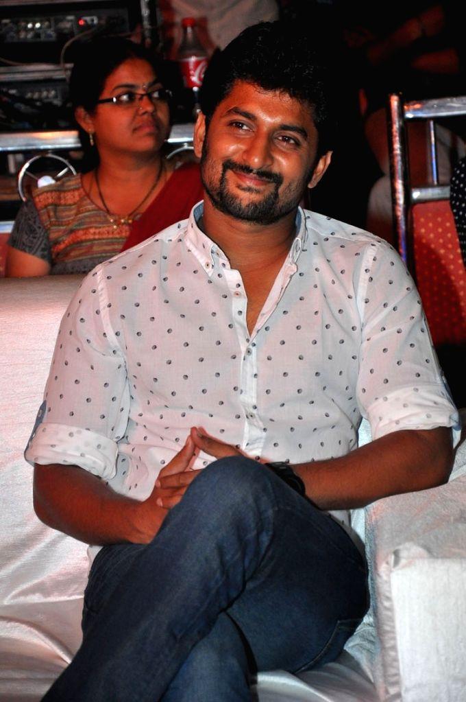 "Actor Nani during the pre release function of Telugu movie ""Ninnu Kori"" in Hyderabad. - Nani"