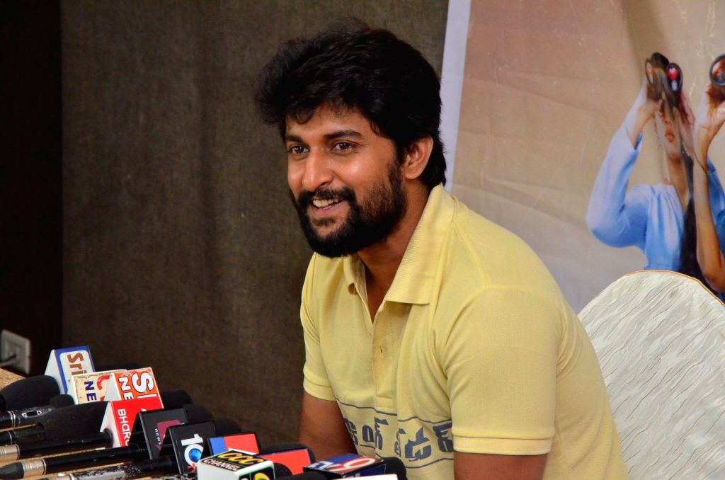 Actor Nani  during the Press meet of his film Gang er at Rajahmundry in Hyderabad - Nani