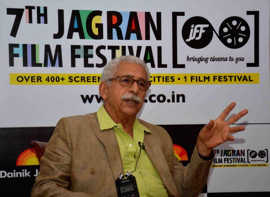 Actor Naseeruddin Shah during Jagran Film Festival in New Delhi, on July 1, 2016. - Naseeruddin Shah