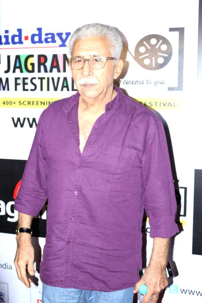 Actor Naseeruddin Shah during the 7th Jagran Film Festival in Mumbai, on Sept 29, 2016. - Naseeruddin Shah