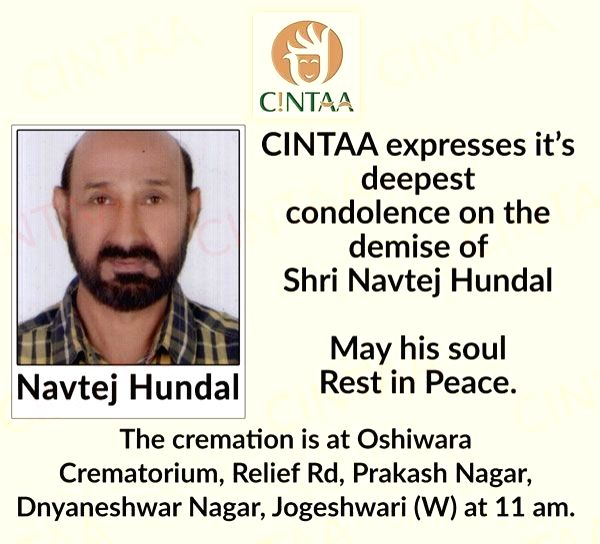 "Actor Navtej Hundal, who most recently appeared in Aditya Dhar's ""Uri: The Surgical Strike"", is dead. (Photo: Twitter/@CintaaOfficial) - Navtej Hundal"