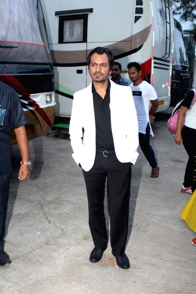 "Actor Nawazuddin Siddiqui arrives on the sets of ""Sa Re Ga Ma Pa Li'l Champs Season 6"" to promote his upcoming film ""Munna Michael"" in Mumbai, on July 5, 2017. - Nawazuddin Siddiqui"