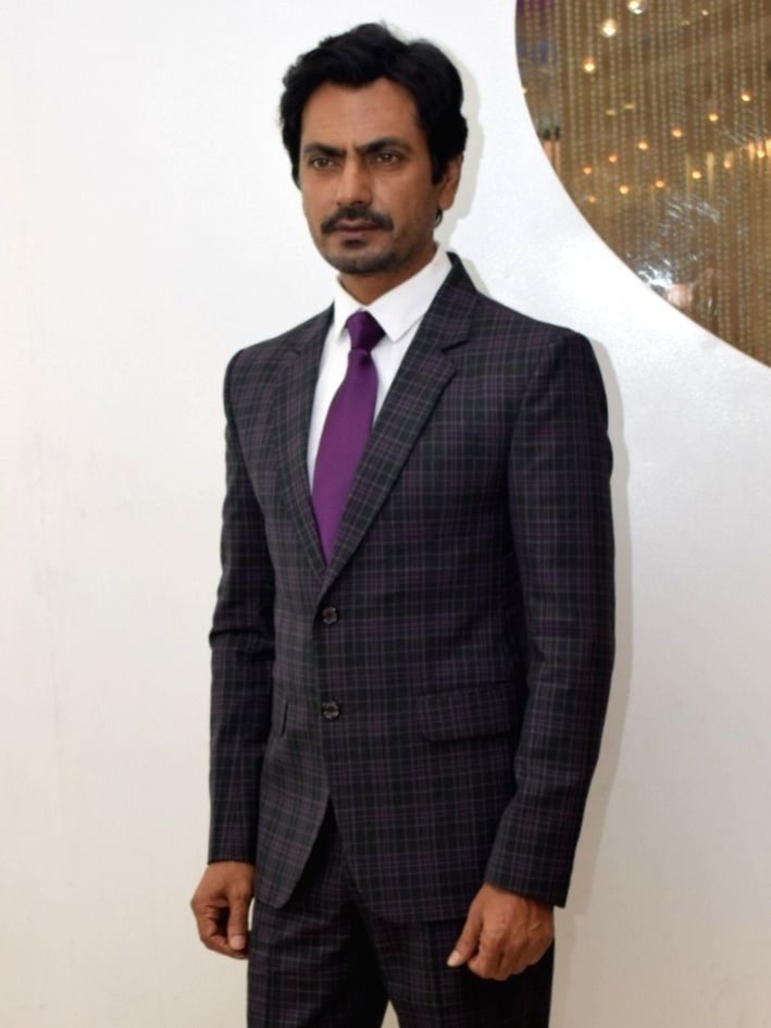 "Actor Nawazuddin Siddiqui at a photoshoot and interview during the promotions of his upcoming film ""Motichoor Chaknachoor"" in New Delhi on Nov 14, 2019. - Nawazuddin Siddiqui"