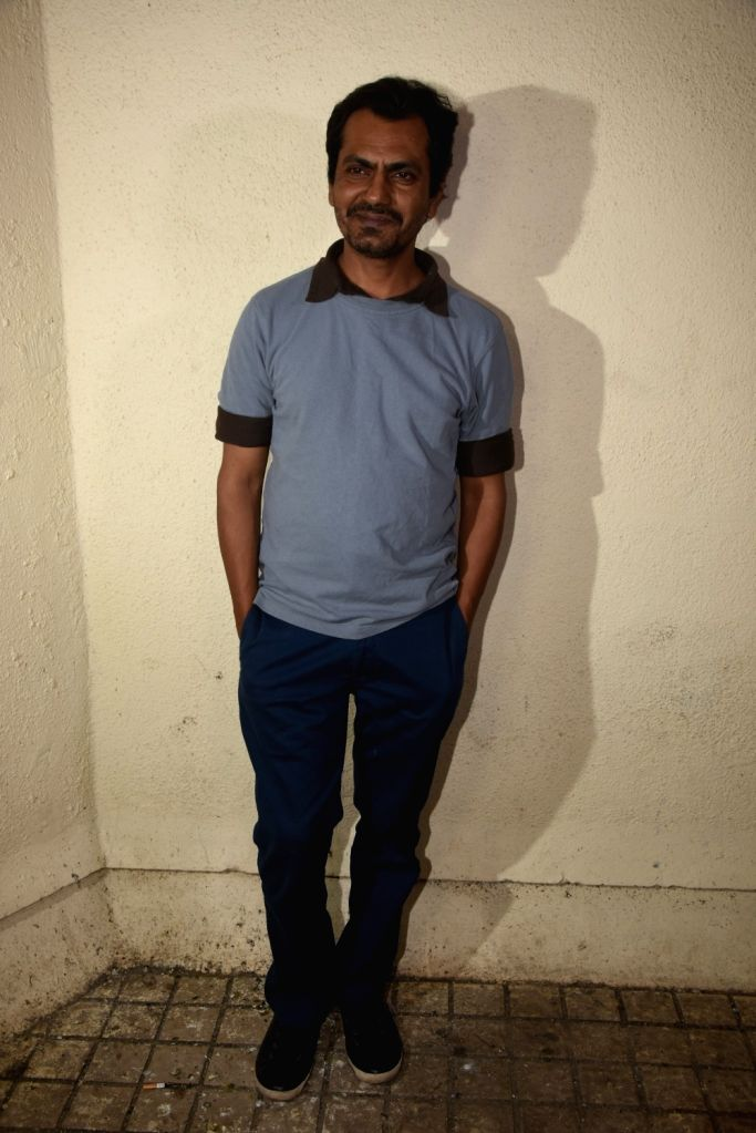 "Actor Nawazuddin Siddiqui at the screening of upcoming film ""Manto"" in Mumbai on Sept 17, 2018. - Nawazuddin Siddiqui"