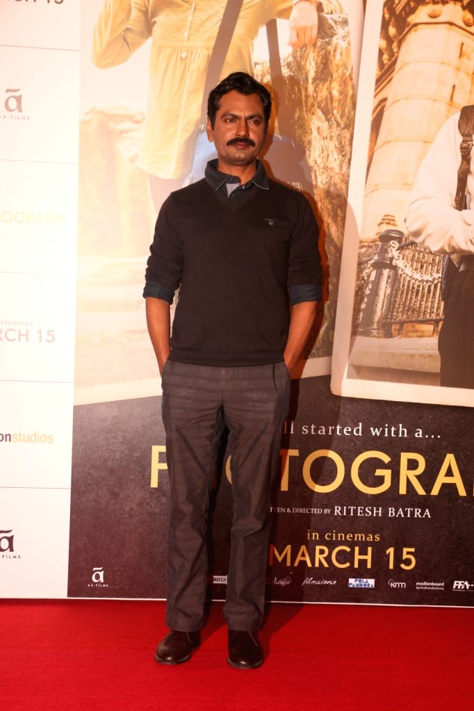"Actor Nawazuddin Siddiqui during a programme organsied to launch ""Tumne Mujhe Dekha"" - a song from upcoming film ""Photograph"" in Mumbai on March 9, 2019. - Nawazuddin Siddiqui"