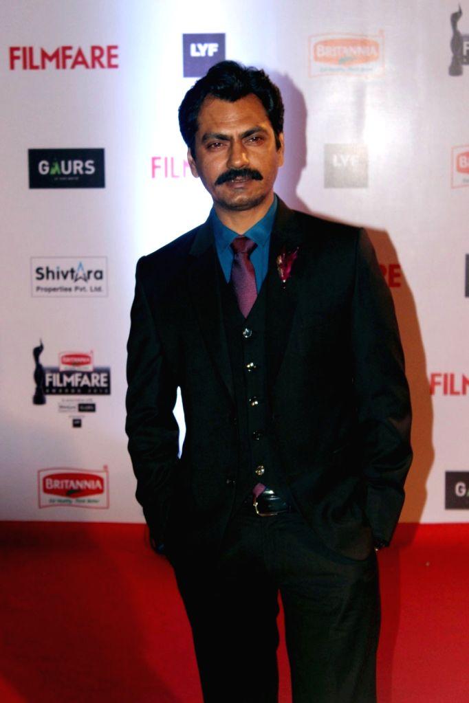 Actor Nawazuddin Siddiqui during the 61st Britannia Filmfare Awards in Mumbai on January 15, 2016. - Nawazuddin Siddiqui