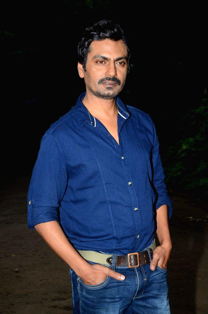 Actor Nawazuddin Siddiqui during the promotion of film Manjhi - The Mountain Man in Mumbai, on Aug 6, 2015. - Nawazuddin Siddiqui