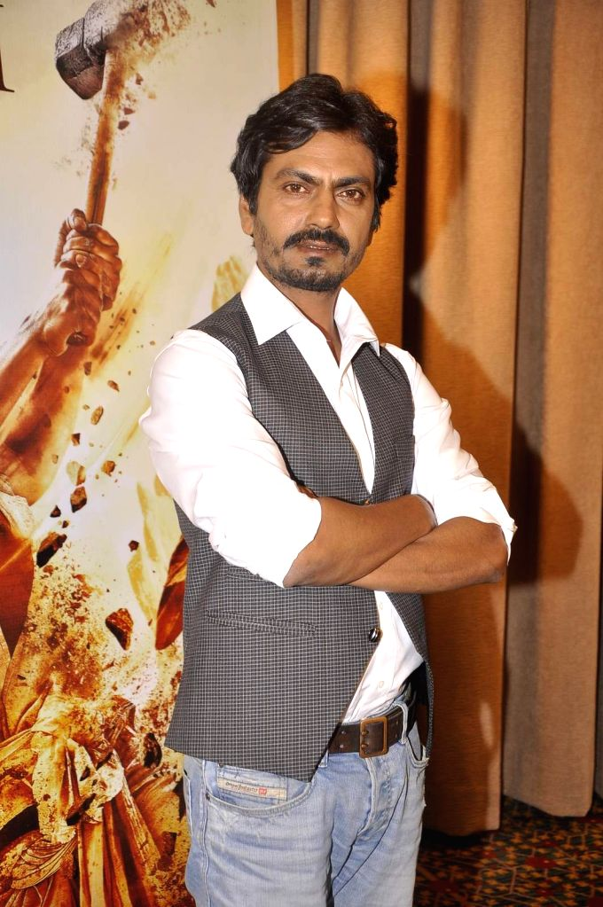 Actor Nawazuddin Siddiqui during the promotion of film Manjhi- The Mountain Man in Mumbai on August 14, 2015. - Nawazuddin Siddiqui